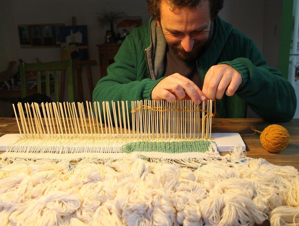 inici del tapís, segon teixidor