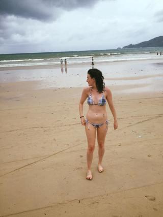 "Tragic: my ""Burberry"" bikini from a stall in Phuket"