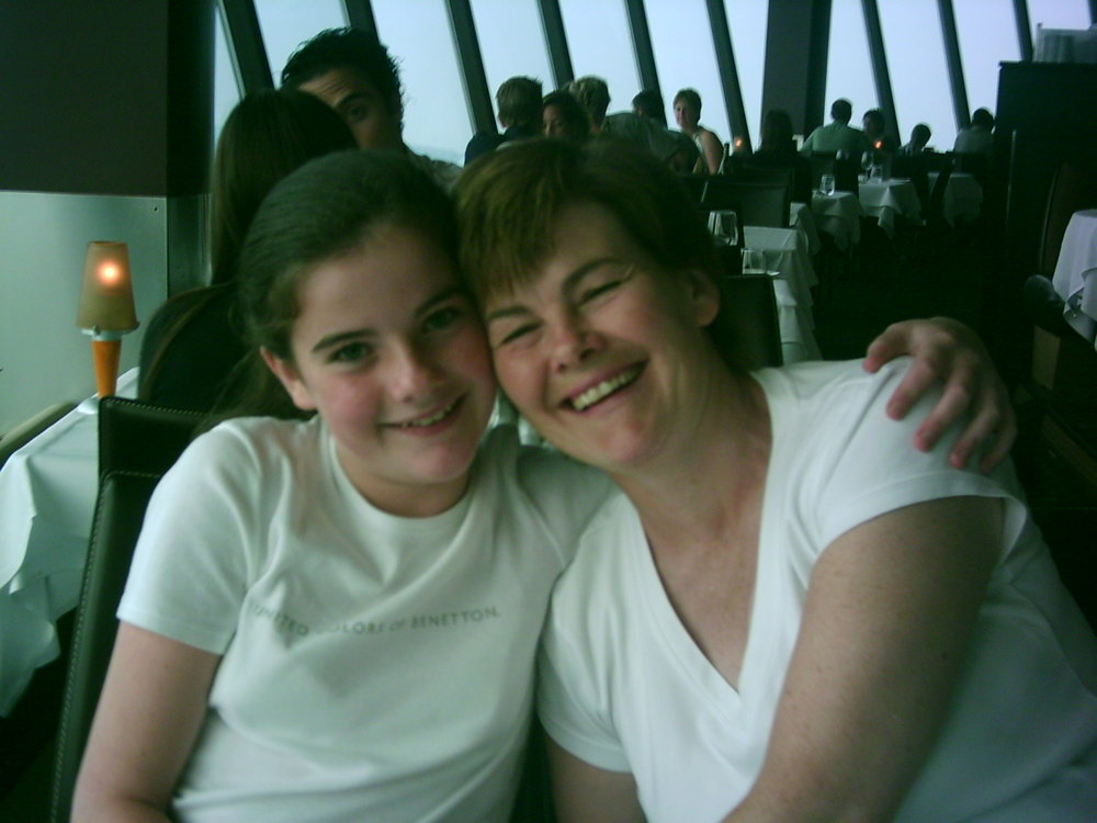 At the CNN Tower in 2005 with my typical Irish ma                    (she screamed when I showed her this picture)