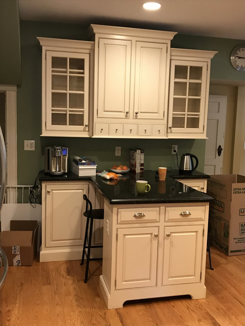 - These upper cabinets were moved