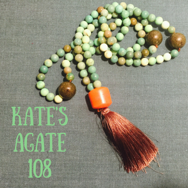 Kate's Agate Mala Necklace