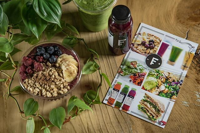 Smoothies and Juice. Salads and Wraps. Even desserts! Have you seen the entire Fuel Juice Bar menu? We know we have something you'll love. #fuelyourself