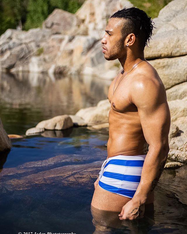 Damn he is sexy!  #hot #sexy #desert #malemodel #gay #instafit #instagay #pride #fun #blue #water