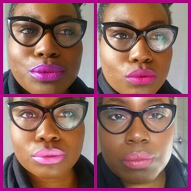 Jo wearing pink lipstick