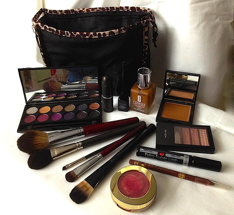 Delphina's makeup bag
