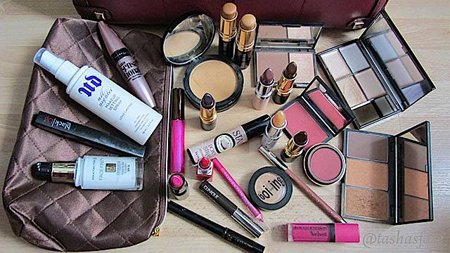 Natasha Glover's makeup bag