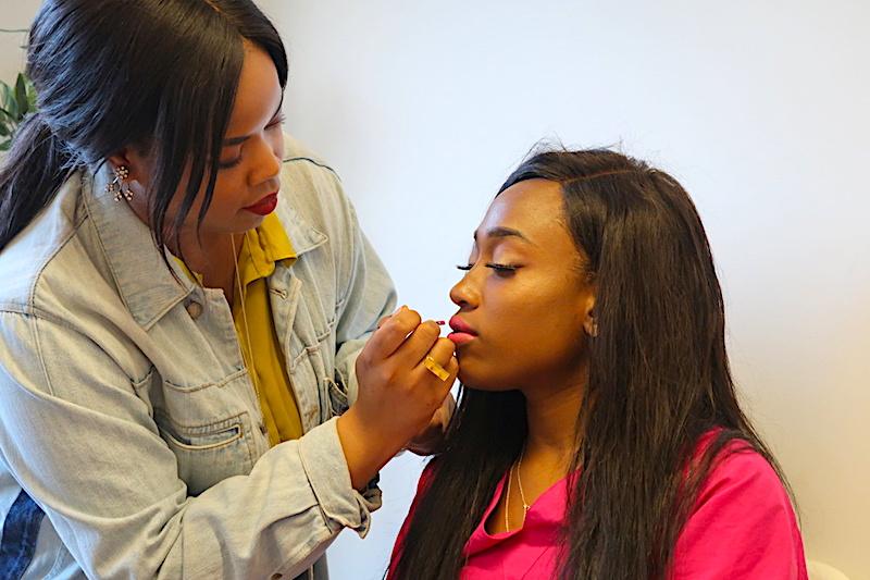brownbeautytalk Makeup Masterclass_Flo and Pink Lip.JPG