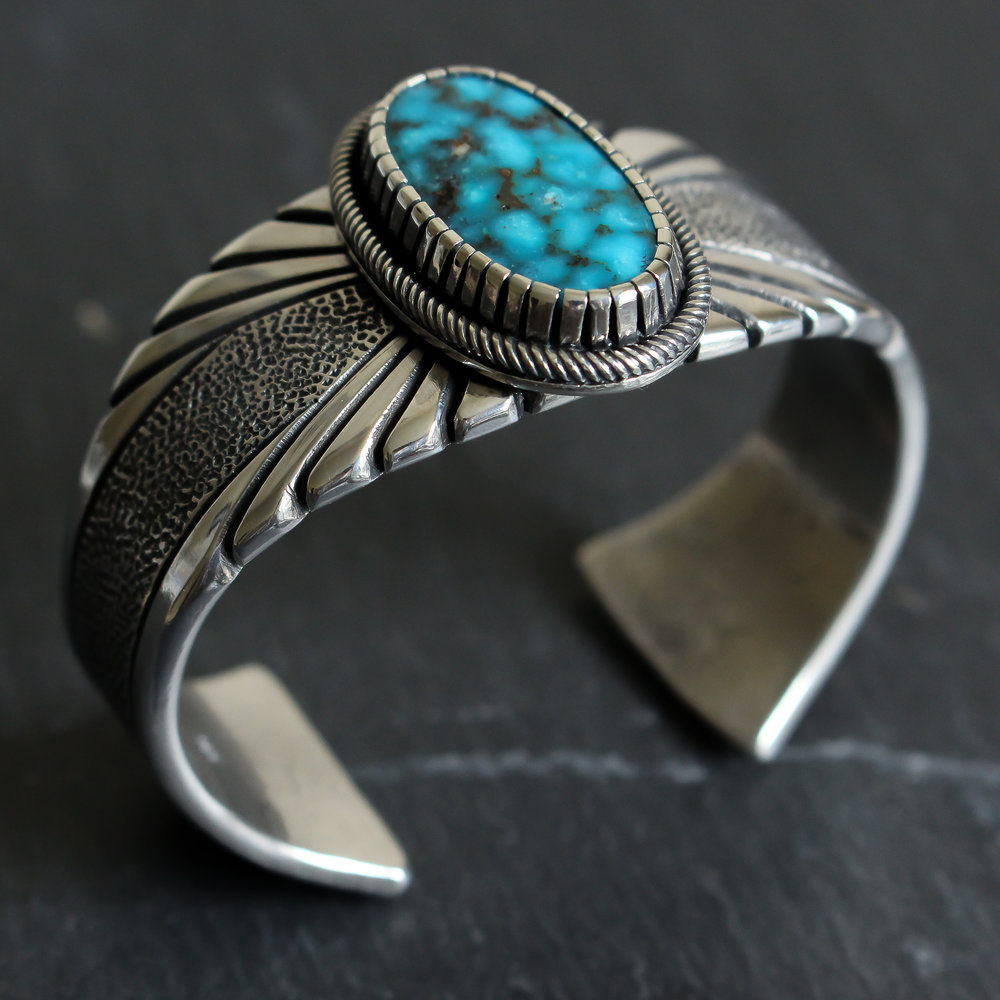 Sleek Turquoise Mountain Cuff