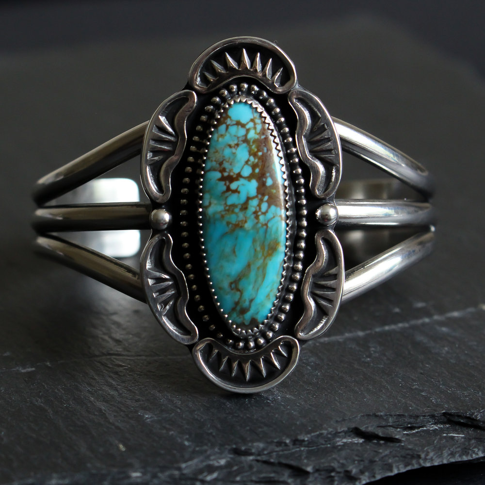 Turquoise Mountain Applique cuff
