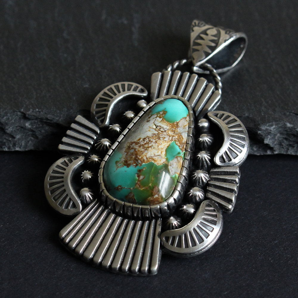 Royston Turquoise statement necklace