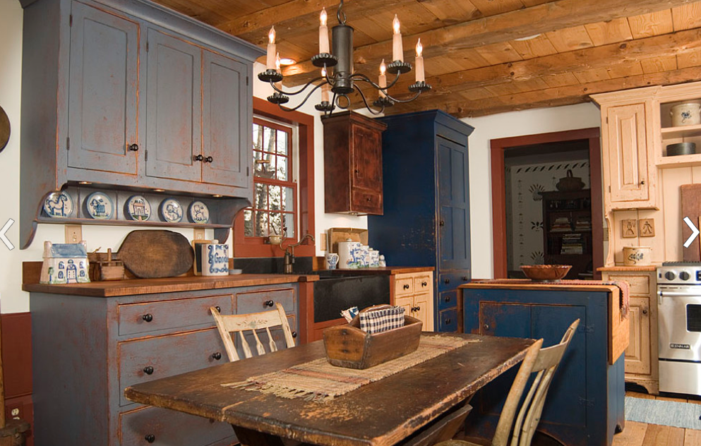 rustic american kitchen