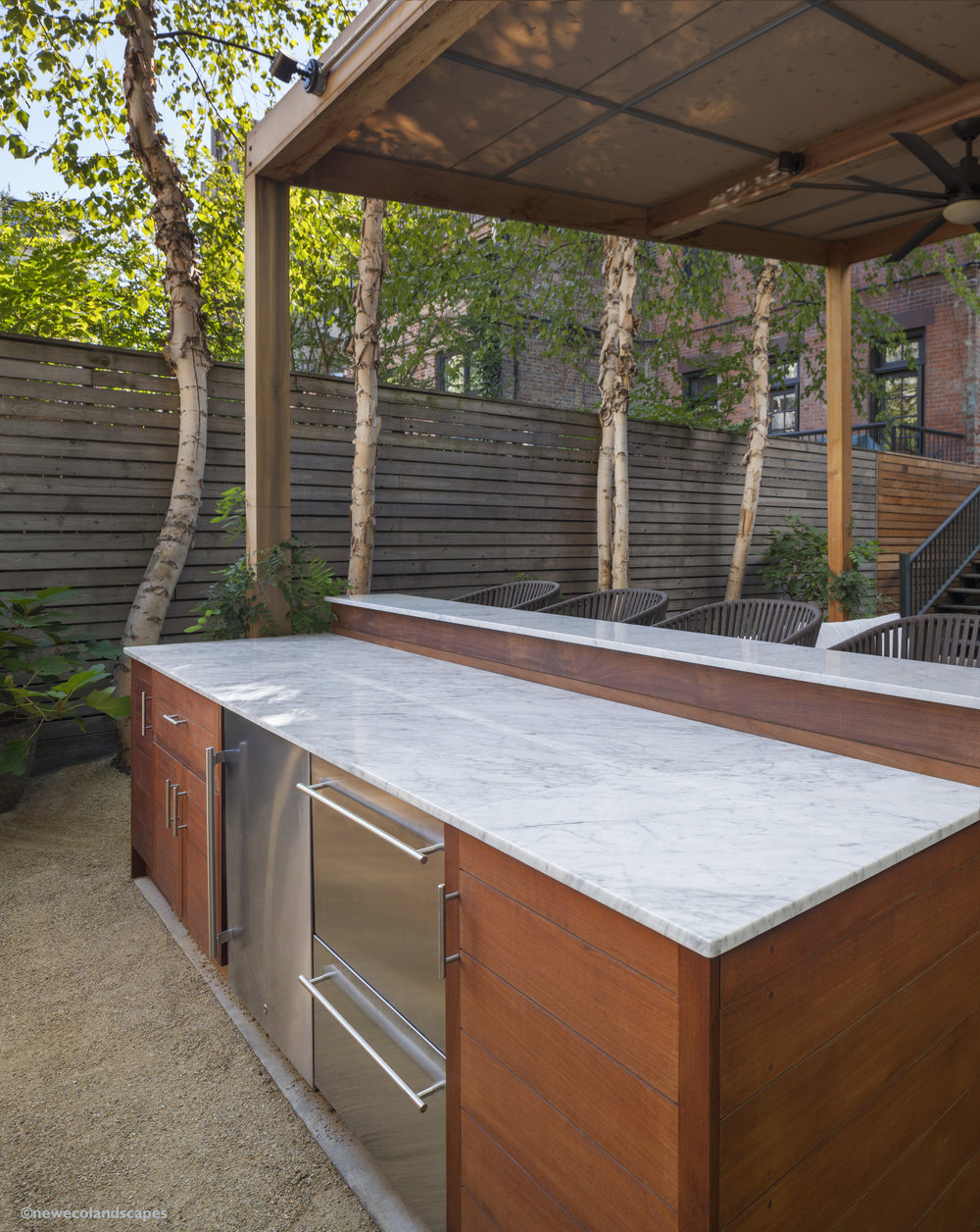 outdoor marble counter