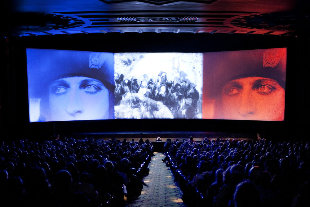 Abel Gance's  Napol  éon  at the Paramount Theatre Oakland, 2012. (Photo by Pamela Gentile, courtesy of San Francisco Silent Film Festival.)