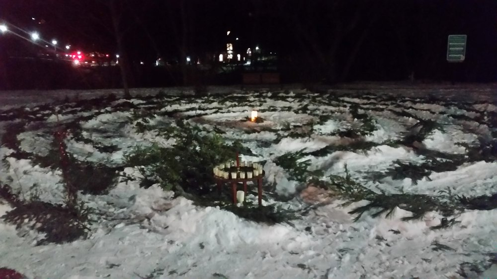 2017 Winter Solstice Labyrinth in Veteran's Park