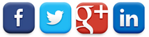 Social Media Graphic - Facebook, Twitter, Google Plus, Linked In