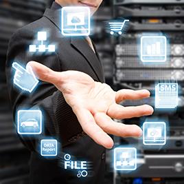 Data Center worker multitasking