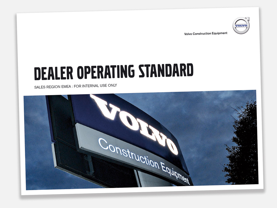 "The Dealer Operating Standard  is the ""bible"" used to ensure a dealership is running to the standards and processes expected. I acted as an editor, copywriter and typographer, taking inputs from different authors and applying a consistency of style and language to bring the 128 page document together."