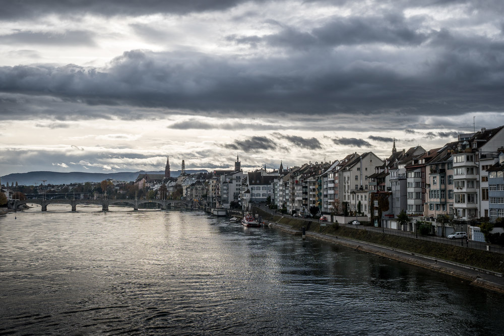 The skyline of Basle (Grossbasel) - Fotography by Matthias Walter