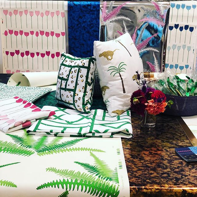 Looking forward to tomorrow's press and designer breakfast @studiofournyc for @cristina_buckley new collection of #textiles and #wallpapers 🌴 🐅 🌴 🐅