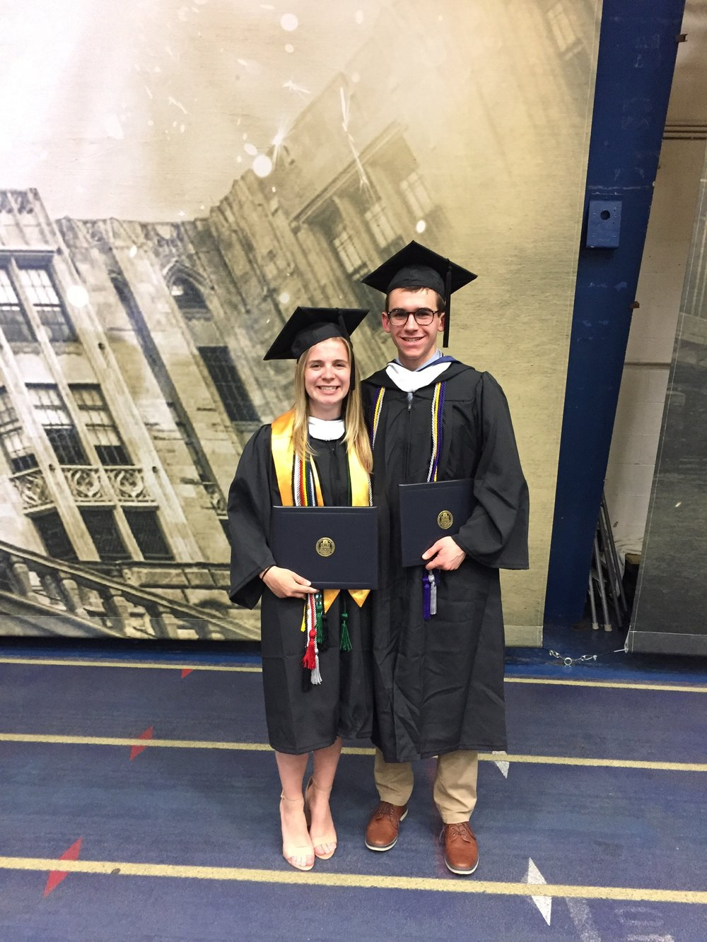 The recent graduates and Carlson lab alumni Monica and Ben