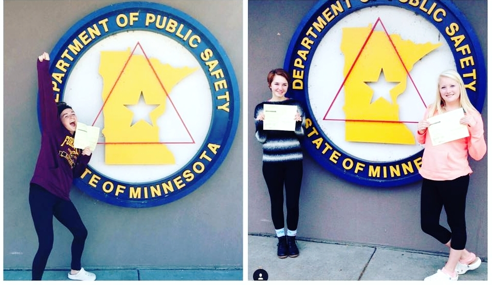 Awesome students above who passed their permit test and sent us these exciting photos!
