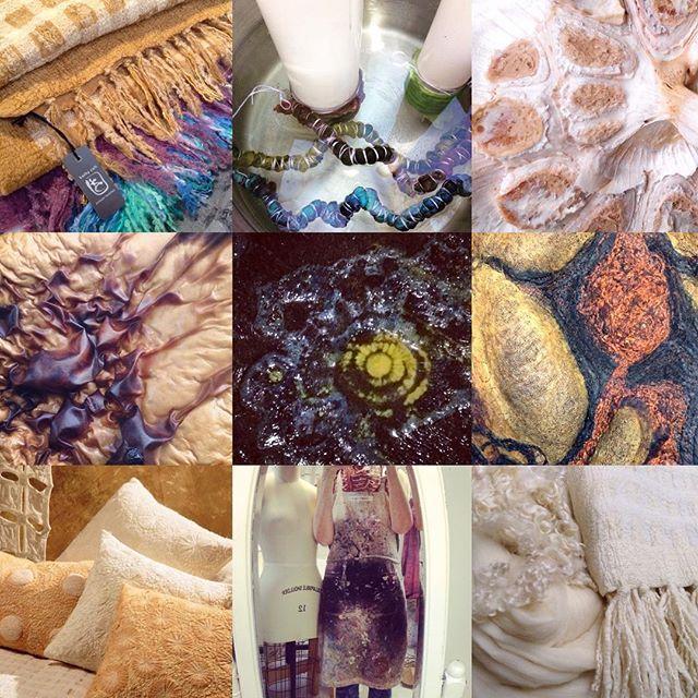 Looking back and movin' on #bestnine2017 #2017bestnine #felt #fiberart #textileart #handmadetextiles #handdyed #felted #textures #designermaker #textile