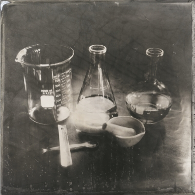Dan Peyton, Chemistry, 2009, ambrotype on glass