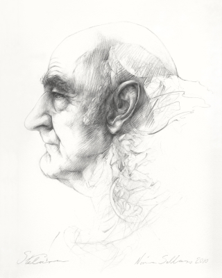 Nina Sellars, Stelarc, drawing, 2010