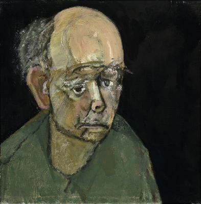 William Utermohlen, Self Portrait (Green), Oil on Canvas, 1997