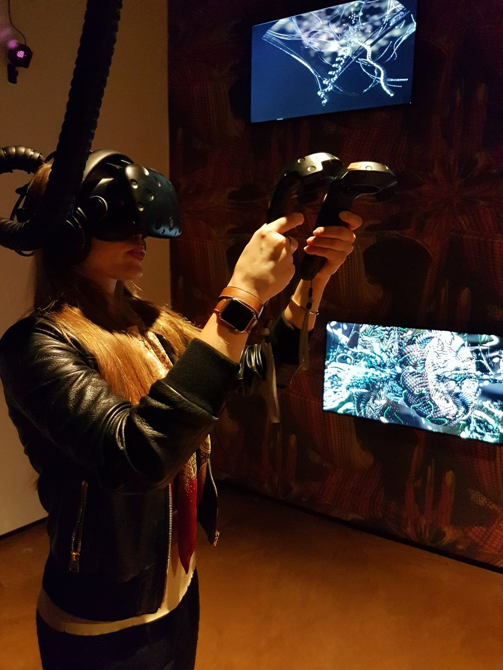 Installation Shot of Mutator VR at The Hybris Exhibition in Venice 2017