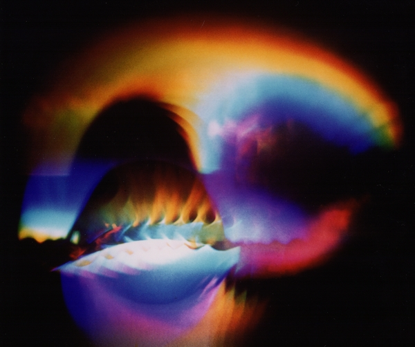 Dominic Boreham, A Planet for Kandinsky (Der Blaue Reiter), 1974, refracted optical light projection.jpg