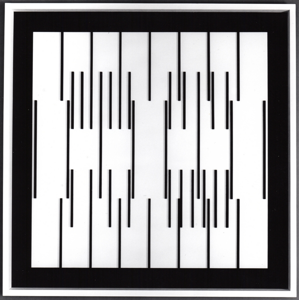 Dominic Boreham, Relief Indeterminacy Grid 79, 1982, painted wood and perspex 121 x 121 x 6.jpg