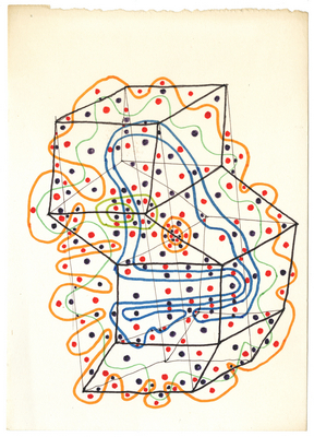 drawing (maze), c1960s-70s