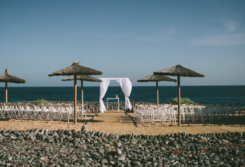 Private beach ceremony