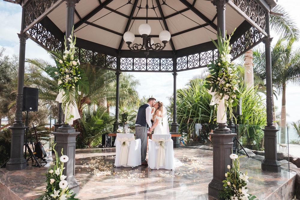 Wedding ceremony in a romantic gazebo