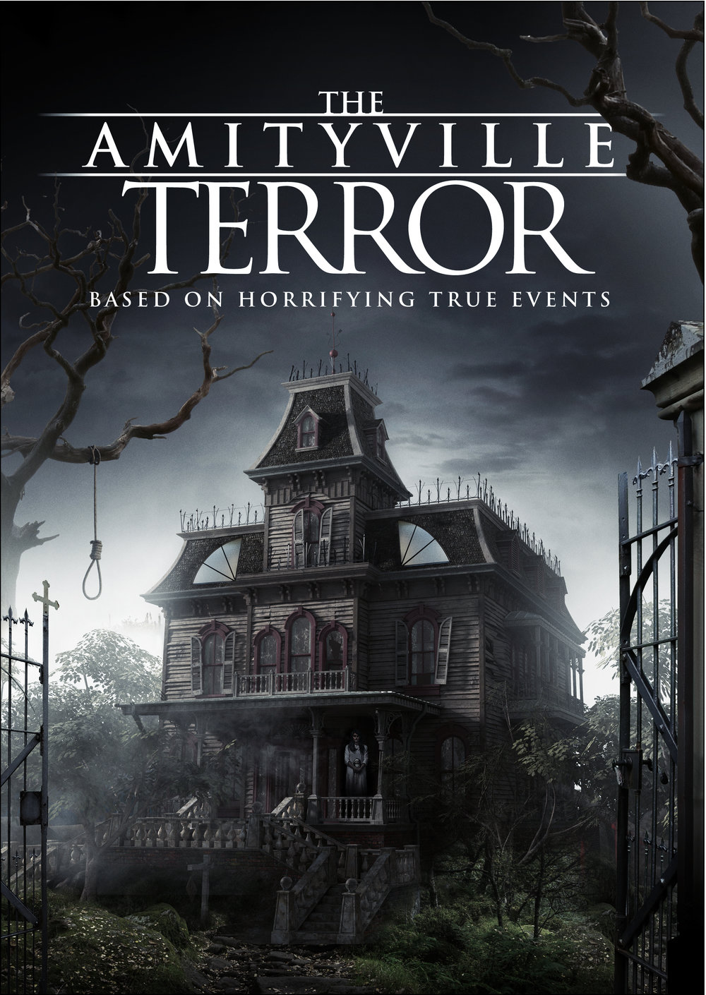Amityville Terror   When the Jacobsen family moves to an old house in the town of Amityville, they are tormented & tortured by an evil spirit residing in the home, and trapped by the malicious townspeople who want to keep them there.