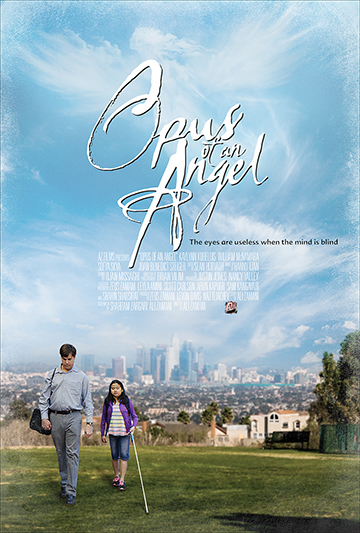 Opus of an Angel   When a suicidal man finds a blind girl lost in the streets of LA, he is torn between getting her home safely and keeping his appointment with death. Stephen was a successful cardiologist, faithful husband, and loving father until a tragic event cost him everything he held dear.