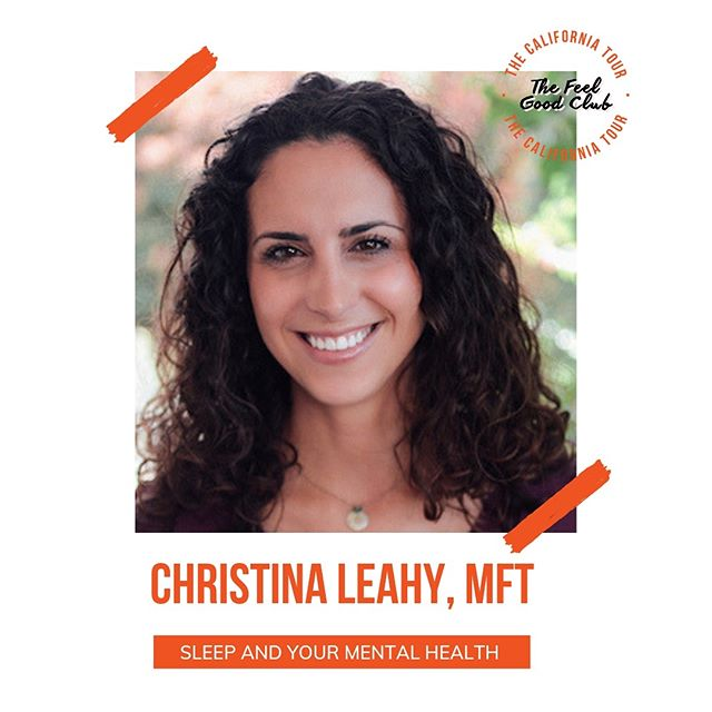 """Excited to introduce you to @christinajleahy, the last speaker in our line up for The Sleep Makeover: Be Better in Bed! Christina is a licensed marriage and family therapist who loves to help individuals become more fully + authentically themselves. She will be guiding the session """"Sleep and Your Mental Health"""" on the 30th at @sixtyhotels Beverly Hills 🙌 Grab your tickets using the link in our bio!"""