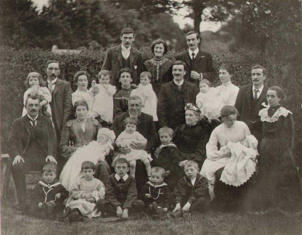 A unique family photo, showing family members at a 21st birthday party in 1904