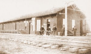 The First Depot. This was the first depot in Clayton, built in 1888. Passenger service was discontinued in 1967 and the last depot on this site was torn down in 1987