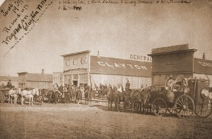 This is the North side of Main Street as it looked on June 19, 1891, before the advent of the Eklund Hotel.