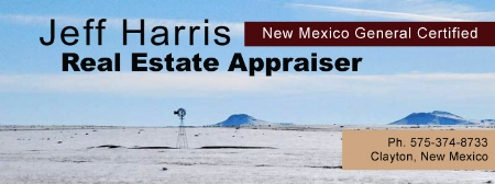 An independent real estate appraiser, appraising farm and ranch properties in Northeastern New Mexico.  It is my mission to complete accurate and dependable real estate appraisals in a timely and cost efficient manner.