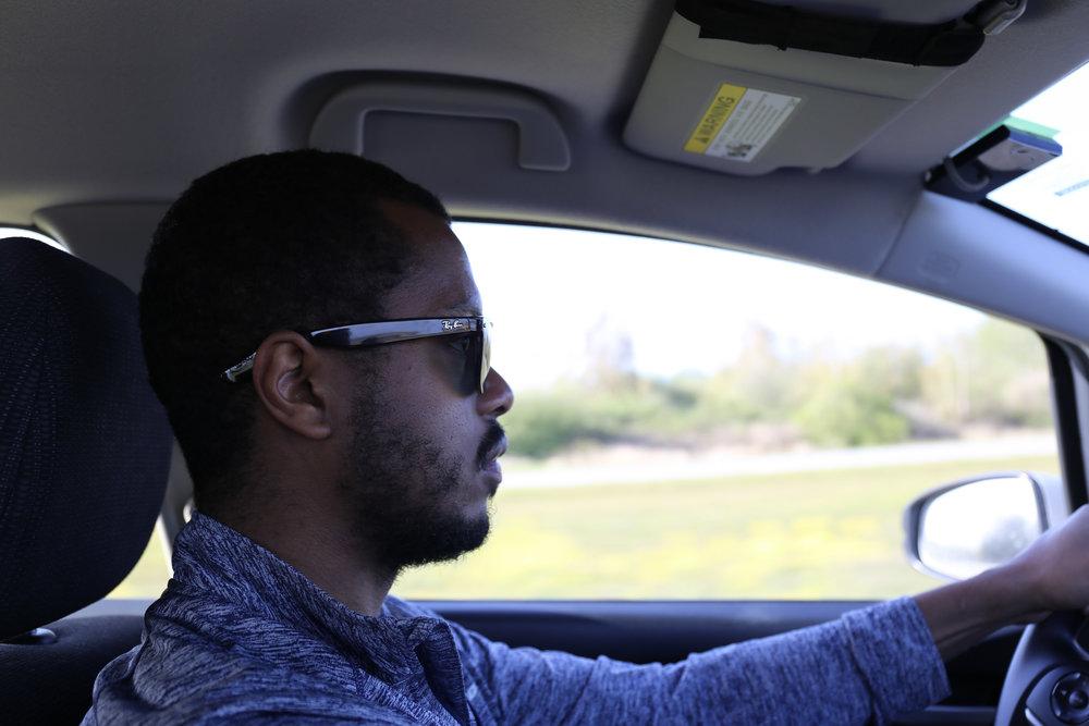 My driver. Ahem, I mean husband, Marcio