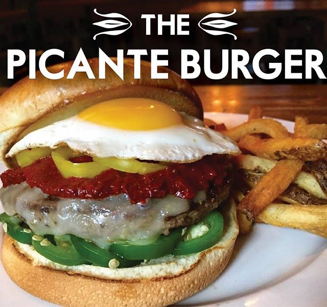 Turn the heat up with the Picante Burger! One of our popular special burgers! #lawrenceks