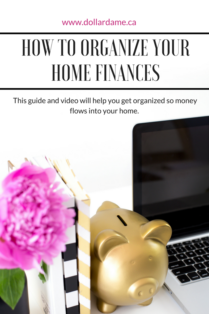 How to organize your home finances blog pinterest graphic.png