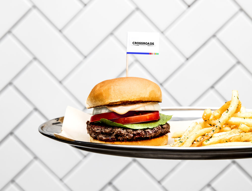 Impossible Burger at Crossroads Kitchen, West Hollywood