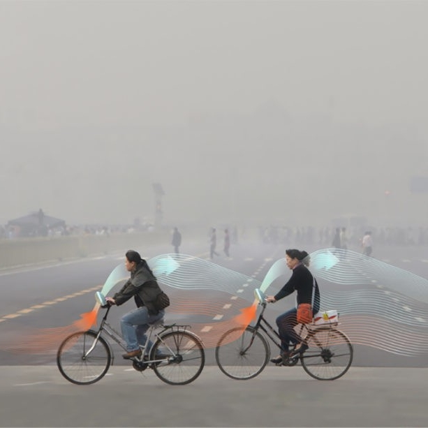 This 'Smog Free Bicycle' by Daan Roosegaarde actually cleans the air you breath.