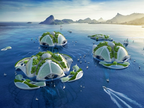 Aequorea Oceanscraper by Vincent Callebaut was printed in 3D from Brazil's garbage.
