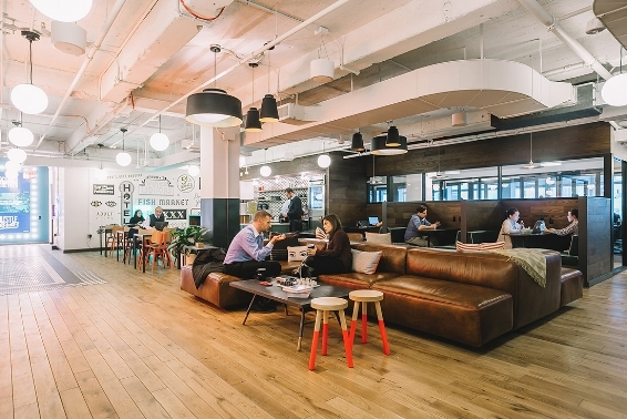 WeWork creates hybrid co-existing workspaces where creative companies can grow together. New space in New York.