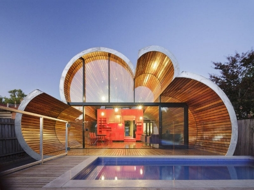 Australian studio, McBride Charles Ryan has designed the Cloud House project in Victoria, Australia.